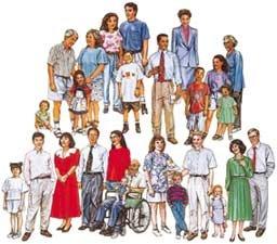 Set of 4 Families 27 Multicultural Diverse Felt Figures for Flannel Board- Precut
