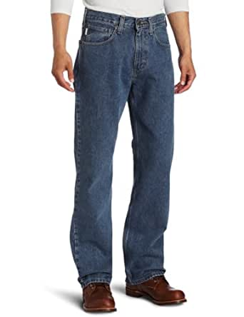 Carhartt Men's Loose Fit Jean Straight Leg,Deepstone,30 x 30