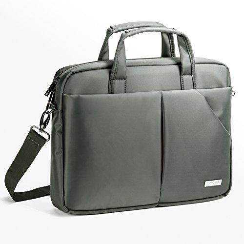"""15.6"""" Custodia Laptop, Evecase Professionale Universale Messenger Borsa con Tracolla per PC, Computer Portatile, Chromebook fino alle 15.6 pollici - Grigio"""