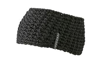 MB Chunky Knit Headband with Lining - 9 Great Colours Ski Sports Fashion (Black)