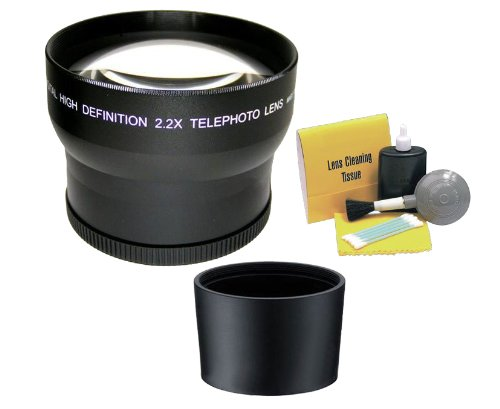 Panasonic Lumix Dmc-Lx5 2.2 High Definition Super Telephoto Lens (Includes Necessary Lens Adapter) + Nwv Direct 5 Piece Cleaning Kit
