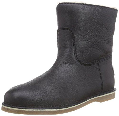 Shabbies AmsterdamShabbies ladies short boot 16cm with Real Wool lining Alissa as FW2014 - Stivaletti classici imbottiti, corti donna , Nero (Schwarz (Superblack 003)), 42