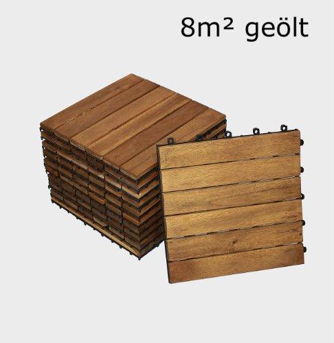 sam terrassenfliese 01 holz fliese aus akazie holz ge lt 88 fliesen f r 8 m 30x30 cm. Black Bedroom Furniture Sets. Home Design Ideas