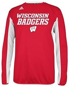 Adidas Wisconsin Badgers Adult ClimaWarm Sideline Crewneck Sweatshirt by adidas