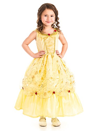 WonderfulDress Girls Yellow Belle Costume Dress