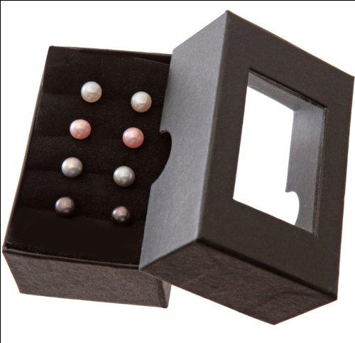 Beautiful Base Metal White Pearl Ladies Stud Earrings