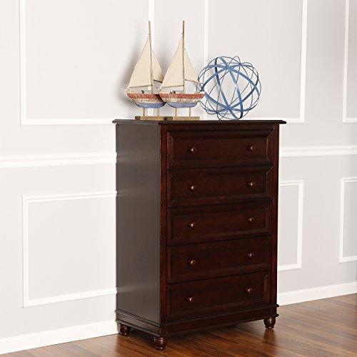 Dream On Me Mia Moda Parkland 5 Drawer Dresser, Espresso