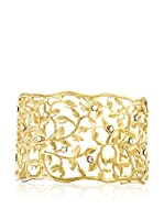 Art de France Brazalete metal bañado en oro 24 ct
