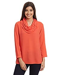 And Women's Body Blouse Top (AW16NA86TTG1_Coral_16)