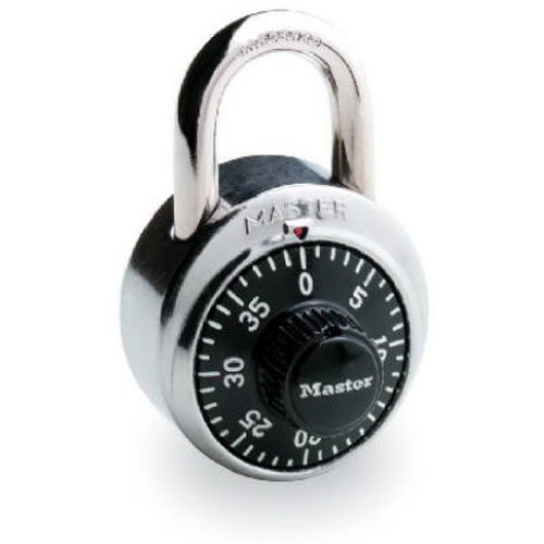Master Lock 1500D Dial Combination Lock, 1-7/8-inch, Black (Dial Padlock compare prices)