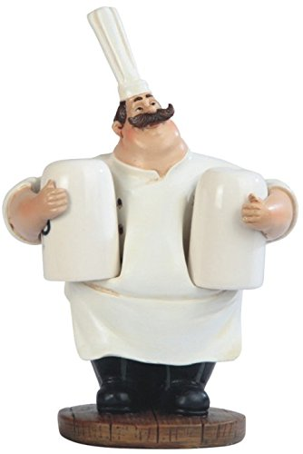 StealStreet SS-G-65015 Big Chef with Big Hat Salt and Pepper Shaker, 6.5
