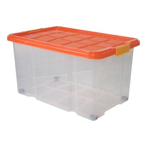 Axentia-Universalbox-auf-Rollen-Aufbewahrungsbox-mit-Deckel-Clipbox-55-Liter-Fassungsvermgenfarblich-sortiert-AufbewahrungsbehlterMultibox-60-x-40-x-34-cm-drehstapelbar-Ordnungssystem-fr-Kinderzimmer-