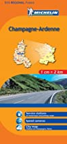 Michelin Map Champagne-Ardenne, France (Michelin Maps)