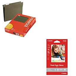 KITCNM8649B002UNV14115 - Value Kit - Canon GP-601 Glossy Photo Paper (CNM8649B002) and Universal Hanging File Folders (UNV14115)