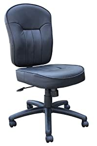 boss office chairs black leather armless task chair office products
