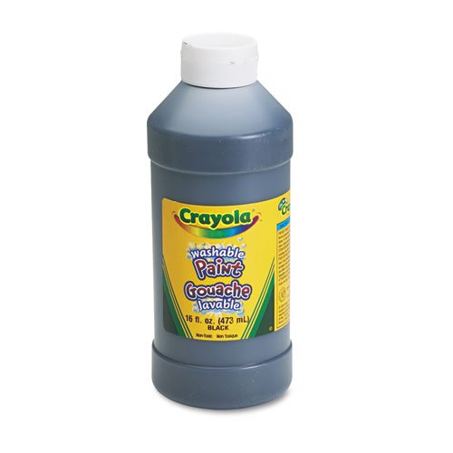 Crayola Tempera Paint, 1 pt Squeeze Bottle, Black