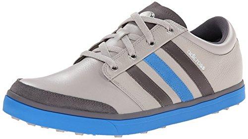 adidas Men's Adicross Gripmore Golf Shoe, Clear Granite/Granite/Bright Blue, 11 M US