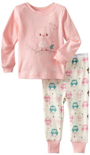 Vitamins Baby-Girls Infant Owl 2 Piece Pajama Set, Pink, 24 Months