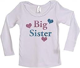 Bubblegum Divas Little Girls39 Big Sister Long Sleeve Hearts Ruffle Top