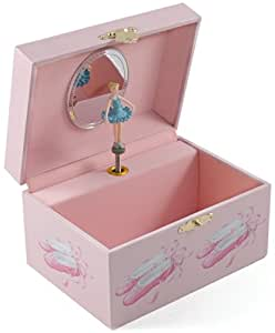 Berkeley designs pink ballet shoes musical jewelry box for Amazon ballerina musical jewelry box