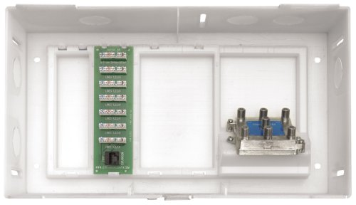 Leviton 47605-MDU MDU Compact Structured Media Enclosure with Cover, White (Leviton Door Switch compare prices)