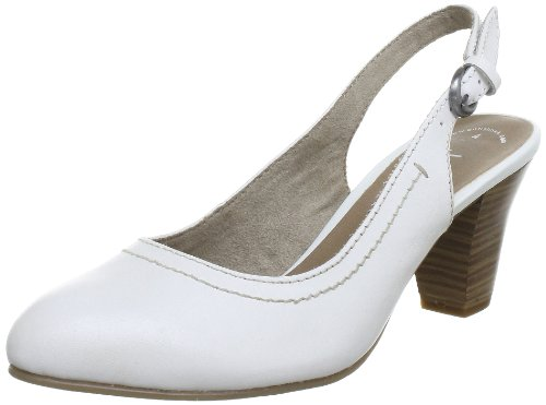 Jana Jana Fashion Slingback Women White Weià (WHITE 100) Size: 5 UK (38 EU)