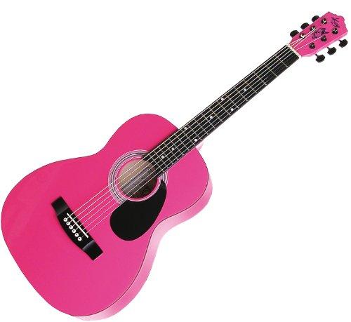 Kay Guitar K137P Acoustic 36-Inch Standard Steel String Guitar - Pink