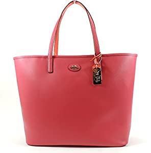 Coach Leather Tote 32701 (Loganberry/Coral)