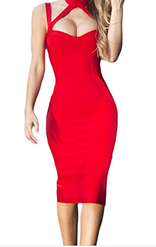 christmas-yeeatz-red-high-neck-hollow-out-bandage-dresssizel