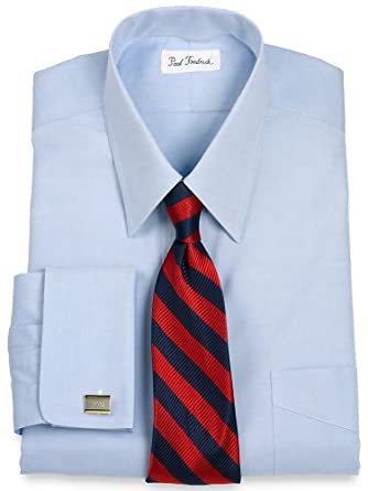 Paul fredrick men 39 s non iron 2 ply cotton straight collar Straight collar dress shirt