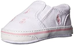 Ralph Lauren Layette BAL Harbour Slip On (Infant/Toddler),White Multi,0 M US Infant