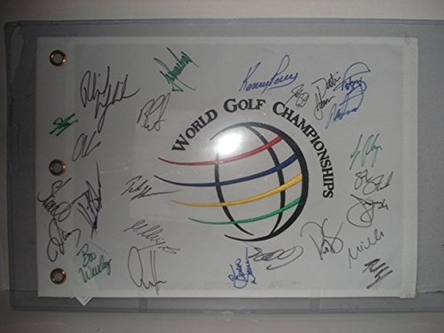 2009-accenture-world-golf-championship-multi-signed-13x19-autographed-flag-coa