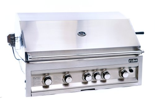 "FLO Grills 42"" 5-Burner 304 Stainless Steel Grill with IR Rotissoire& Halogen Lights (Natural Gas)"