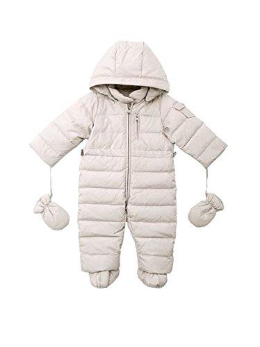 Oceankids Tuta monopezzo / tuta da neve / da passeggino con cappuccio, beige da bambino e bambina 12-18 Mesi