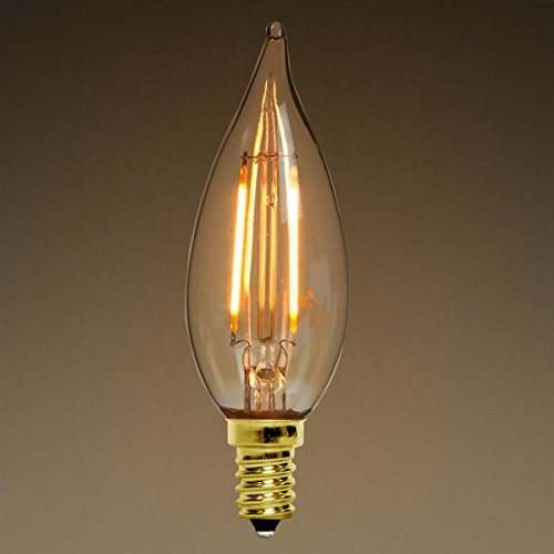2w dimmable led filament light bulb 2200k candelabra base. Black Bedroom Furniture Sets. Home Design Ideas