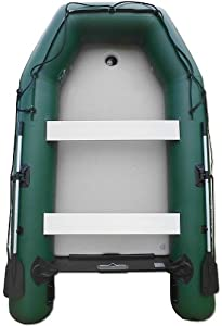 Saturn 11 ft Green Extra-Wide Inflatable Boat by Saturn
