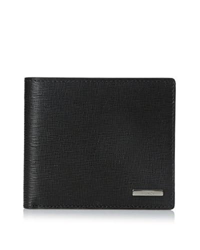Fendi Men's Grainy Calfskin Billfold Wallet, Black