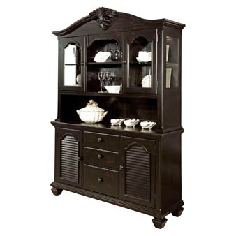buy low price broyhill broyhill nouvelle china cabinet china 4310 567 hutch 4310 568