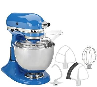 KitchenAid 4.5qt. 300W Tilt Head Stand Mixer with Flex Edge Cornflower Blue from KitchenAid