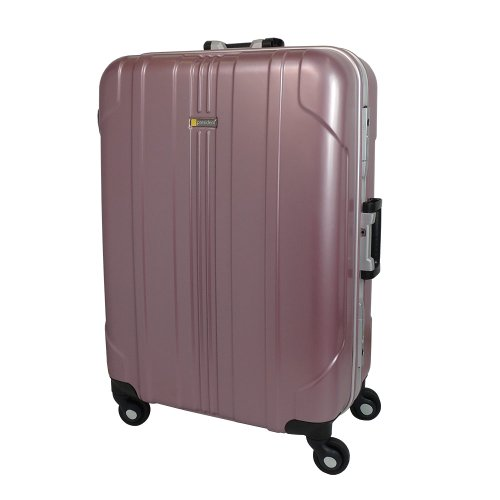 【 President 】スーツケース 軽量アルミフレーム TSAロック搭載 【プロセアフレーム2013】3年保証 16COLOR 4サイズ【大型、ジャスト型、中型、セミ中型】 (中型 Mサイズ 67リットル, メタリックローズ)