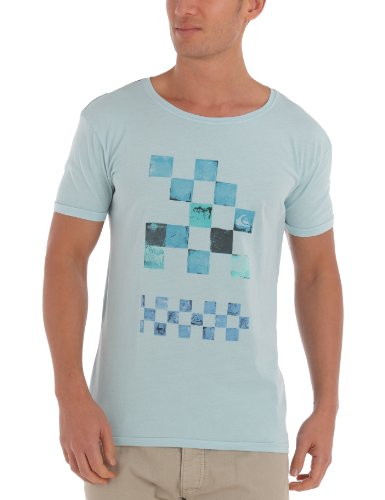 Quiksilver Roadie Tee Plain Men's T-Shirt Sky Medium