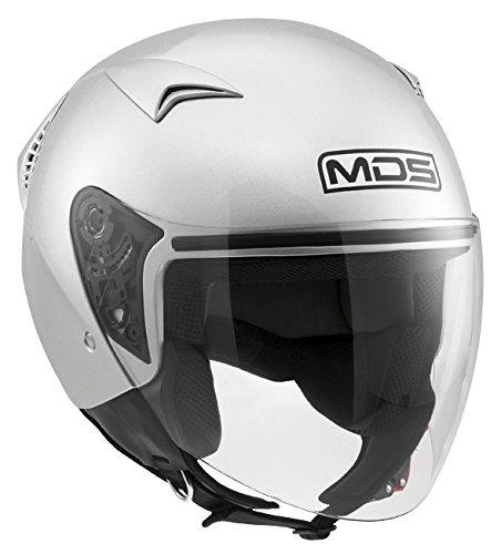 MDS Casco Moto G240 E2205 Solid, Silver, XS
