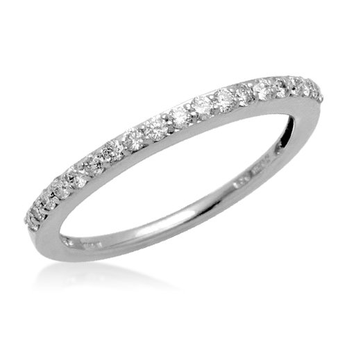 Sterling Silver Prong Set Diamond Wedding Anniversary Ring (1/4 cttw, I-J Color, I3 Clarity), Size 7