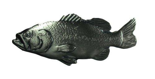 Aphrodite (アフロディーテ) ネクタイピン 魚 ブラックバス 合金銀色 日本製