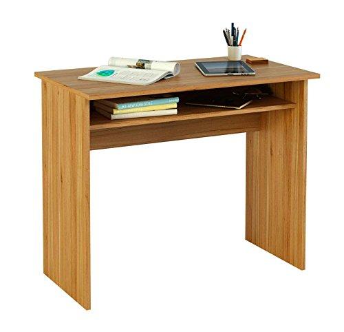 Meka-Block-K-9465N-Schreibtisch-90-cm-breit-Farbe-walnuss