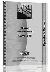 Same Corsaro 70 Tractor Operators Manual: Jensales Ag Products: Amazon