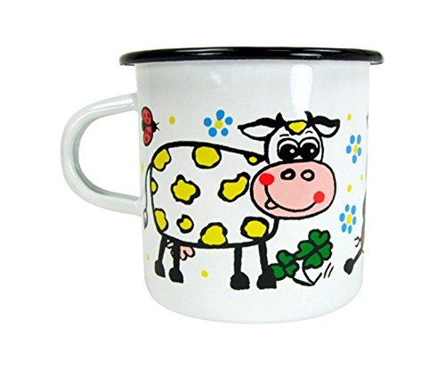ABA 7 x 8 cm-Tazza, motivo: mucca, multicolore