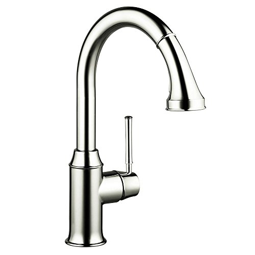 Hansgrohe 04215830 Talis C HighArc Single-Hole Kitchen Faucet with Pull Down 2-Spray, Polished Nickel (Talis Kitchen Faucet compare prices)