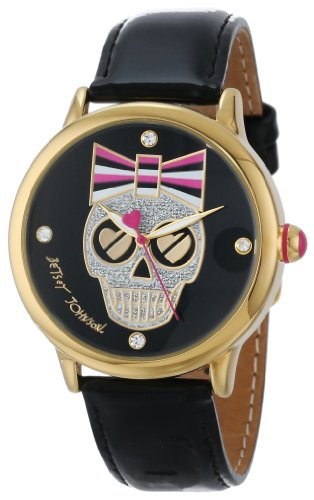Betsey Johnson Women's BJ00084-50 Analog Skull Graphic Dial Watch