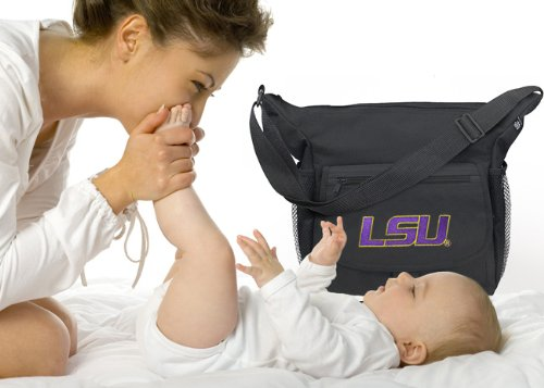 LSU Tigers Diaper Bag Official NCAA College Logo Deluxe LSU - Baby Bag - BEST Baby Shower GIFT for New Dad, Father or New Mom Mother GIFTS